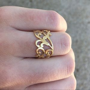 Jewelry - Filigree 24K gold plated Ring